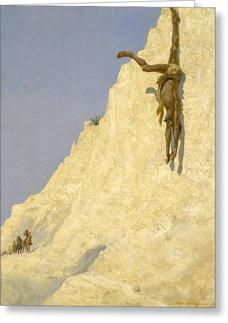 The Transgressor Greeting Card by Frederic Remington