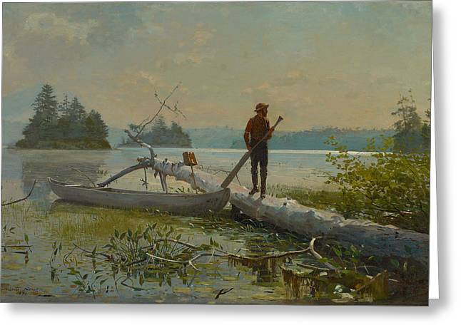 The Trapper Greeting Card by Winslow Homer