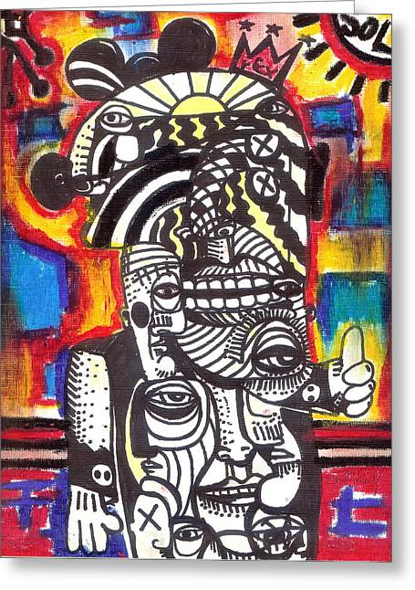 Hike Mixed Media Greeting Cards - The Traveller Greeting Card by Robert Wolverton Jr