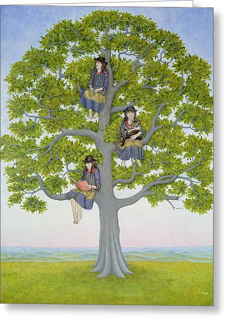 Climbing In Greeting Cards - The Tree Greeting Card by Ditz