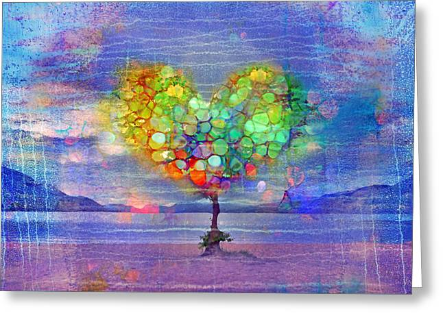 Distortion Greeting Cards - The Tree of Hearts Greeting Card by Tara Turner
