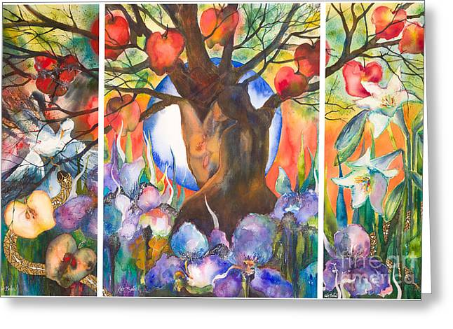 Kate Bedell Greeting Cards - The Tree of Life Greeting Card by Kate Bedell