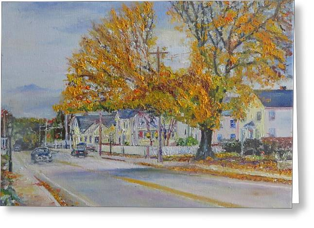 New England Village Greeting Cards - The Tree  Greeting Card by Robert Moore