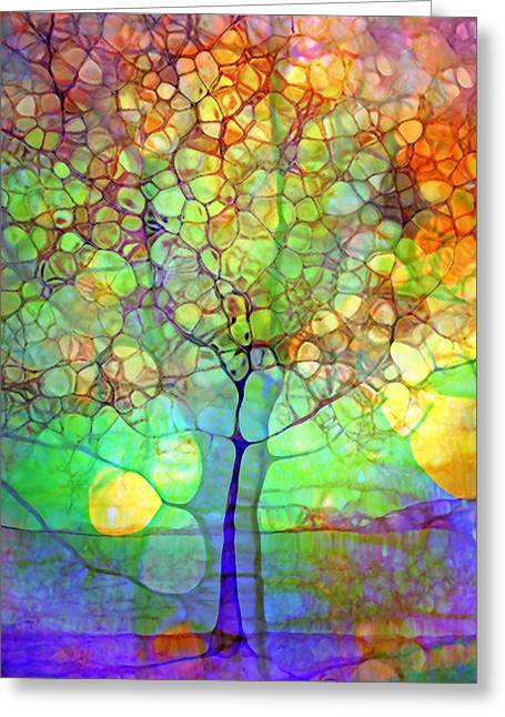 Distortion Greeting Cards - The Tree Within Greeting Card by Tara Turner