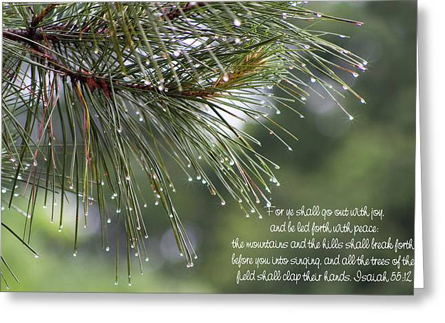 Isaiah Digital Greeting Cards - The Trees Of The Field Clap Their Hands Greeting Card by Kathy Clark