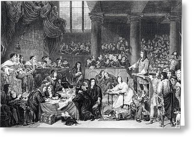 The Trial Of Lord William Russell 1683 Greeting Card by Vintage Design Pics