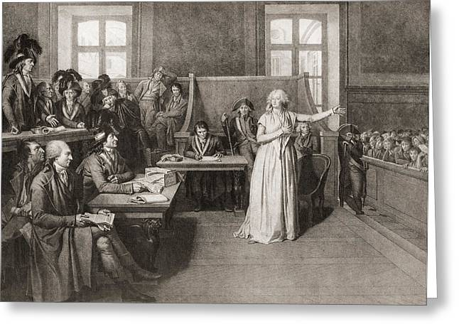 Trial Greeting Cards - The Trial Of Marie-antoinette Greeting Card by Ken Welsh