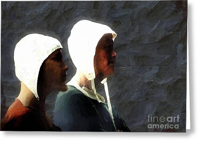 Dungeons Greeting Cards - The Trial of the Heretics Greeting Card by RC deWinter
