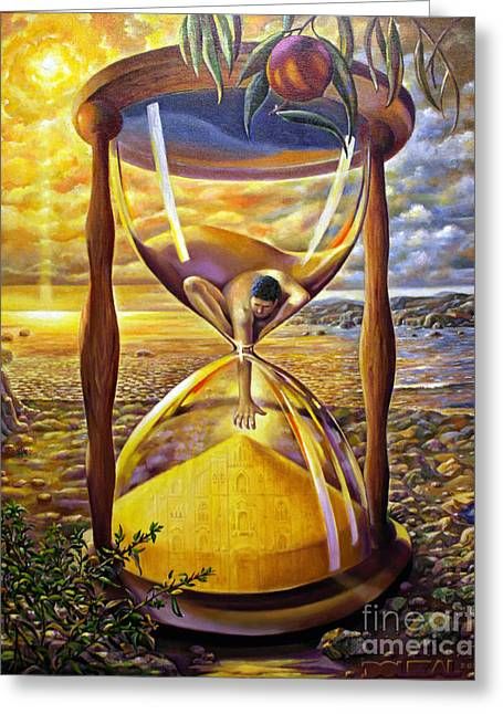 The Trial Of Time Greeting Card by Alfred Dolezal
