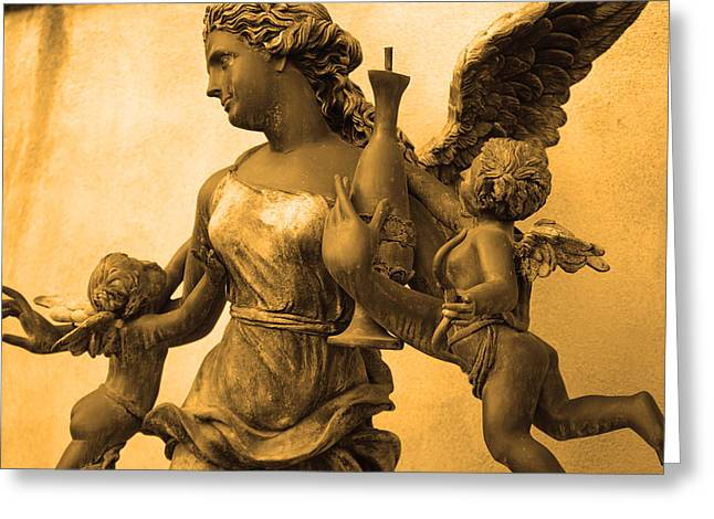Angels Greeting Cards - The Trinity Greeting Card by Giorgio Tuscani