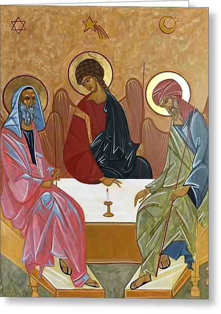 The Trinity Of Unity Greeting Card by Joseph Malham