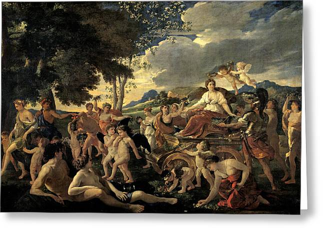Poussin; Nicolas (1594-1665) Greeting Cards - The Triumph of Flora Greeting Card by Nicolas Poussin