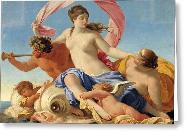 Galatea Greeting Cards - The Triumph of Galatea Greeting Card by Eustache Le Sueur