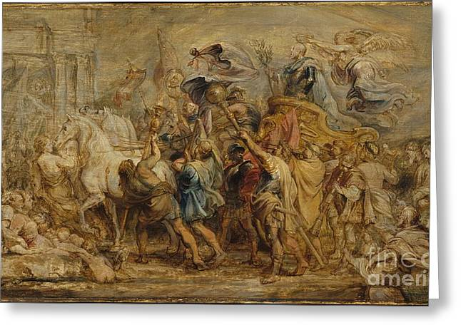 Peter Paul 1577-1640 Greeting Cards - The Triumph of Henry IV Greeting Card by Peter Paul Rubens