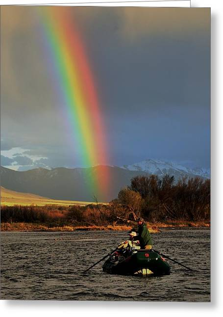 Rainbow Trout Greeting Cards - The Trout at the end of the Rainbow Greeting Card by Link Jackson