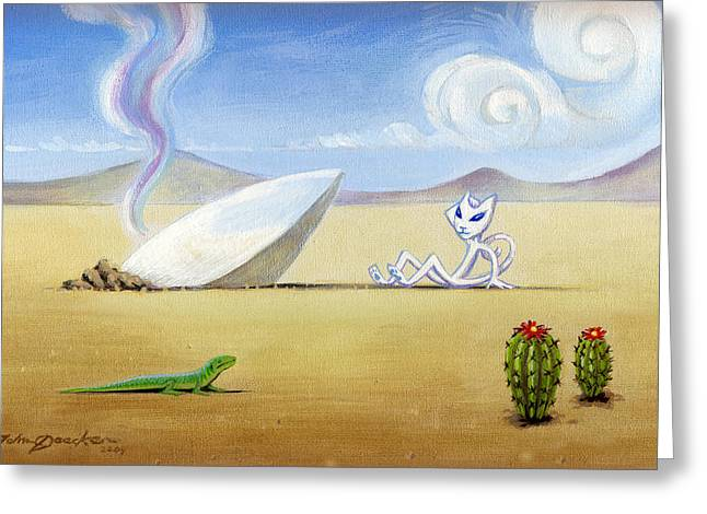 The Truth About Roswell Greeting Card by John Deecken