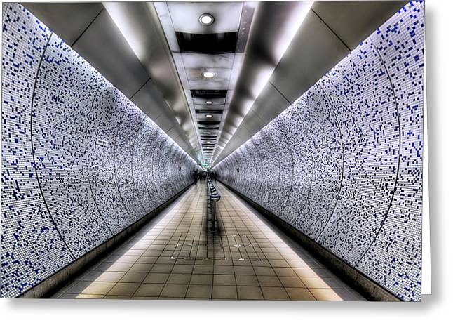 The Tube Greeting Card by Evelina Kremsdorf