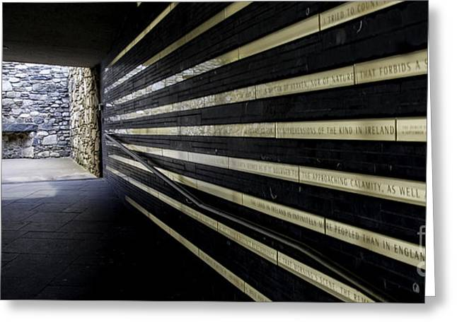 Occasion Greeting Cards - The tunnel entrance to Irish Hunger Memorial in NYC Greeting Card by  ILONA ANITA TIGGES - GOETZE  ART and Photography