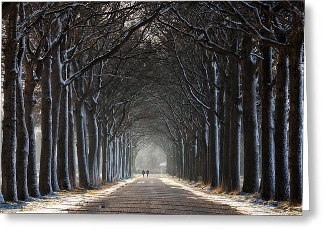 The Tunnel Greeting Card by Martin Podt
