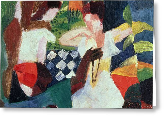 The Turkish Jeweller  Greeting Card by August Macke