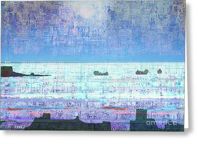 Abstract Seascape Mixed Media Greeting Cards - The Turn of the Tide  Greeting Card by Andy  Mercer