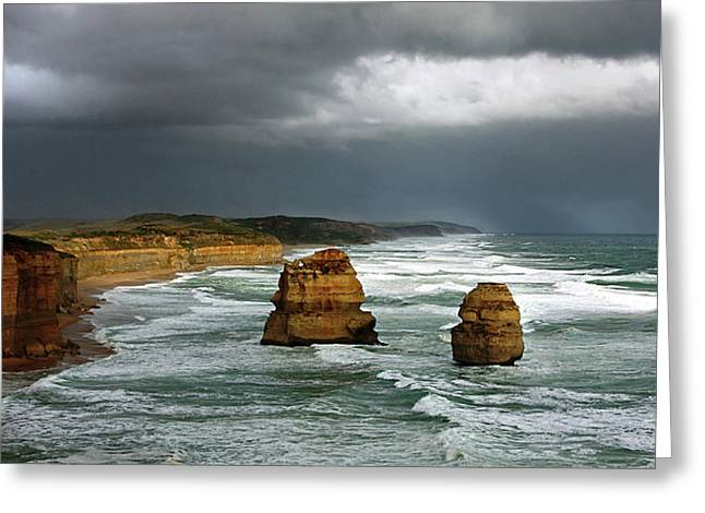 Monolith Greeting Cards - The Twelve Apostles Greeting Card by Marion Cullen