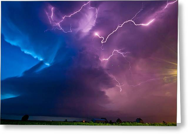 The Twilight Meso Greeting Card by Chris  Allington