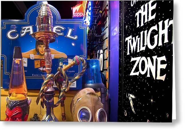 Marijuana Legalization Greeting Cards - The Twilight Zone Greeting Card by Gary Warnimont