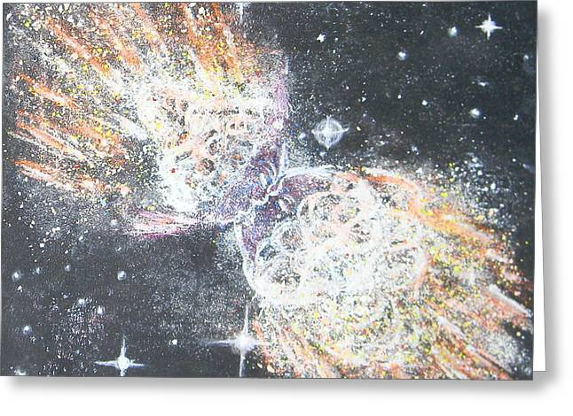 Astronomy Pastels Greeting Cards - The Twins Greeting Card by Dennis Goodbee
