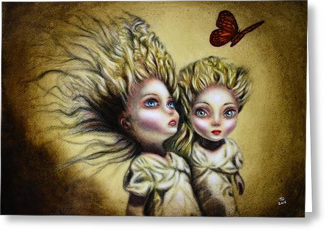Snowwhite Greeting Cards - The Two Sisters Greeting Card by Tiago Azevedo