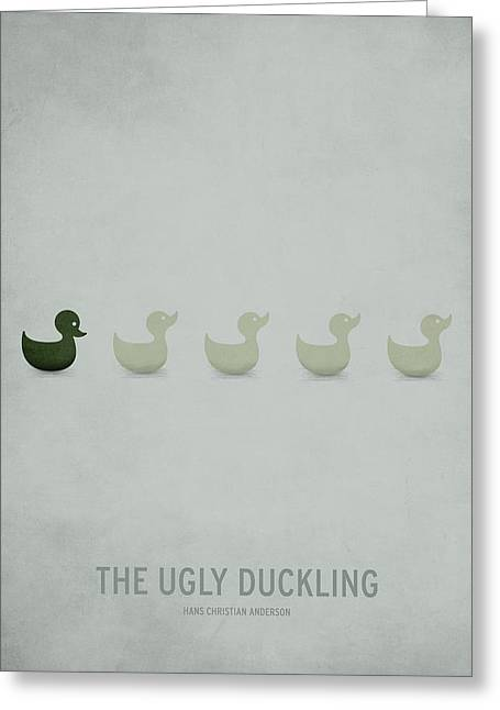 Ducklings Digital Greeting Cards - The Ugly Duckling Greeting Card by Christian Jackson