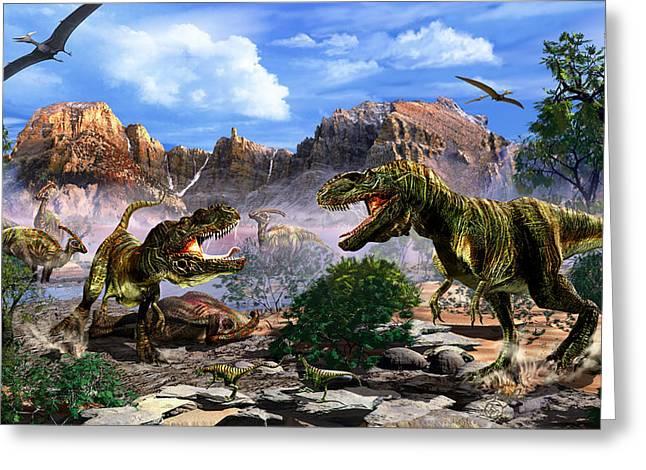 The Ultimate Predator Greeting Card by Kurt Miller