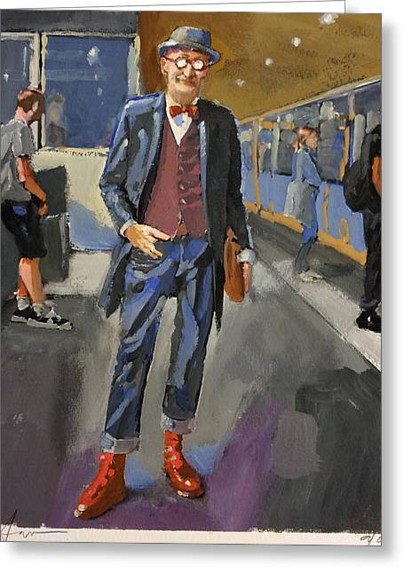 Red Shoes Greeting Cards - The Underground Greeting Card by H James Hoff