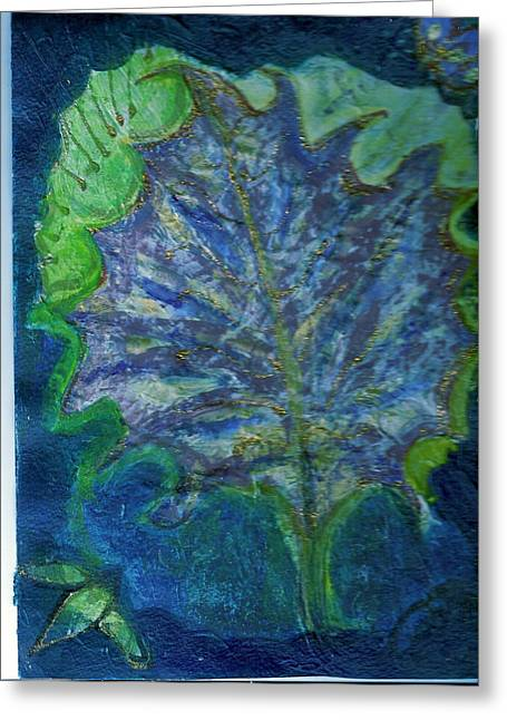 The Underside Of The Autumn Leaf Greeting Card by Anne-Elizabeth Whiteway