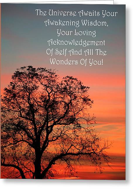 Loving Self Greeting Cards - The Universe Awaits Greeting Card by Robin Coventry