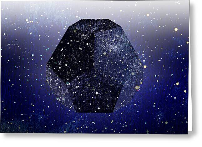 Dodecahedron Greeting Cards - The Universe Greeting Card by Stevyn Llewellyn