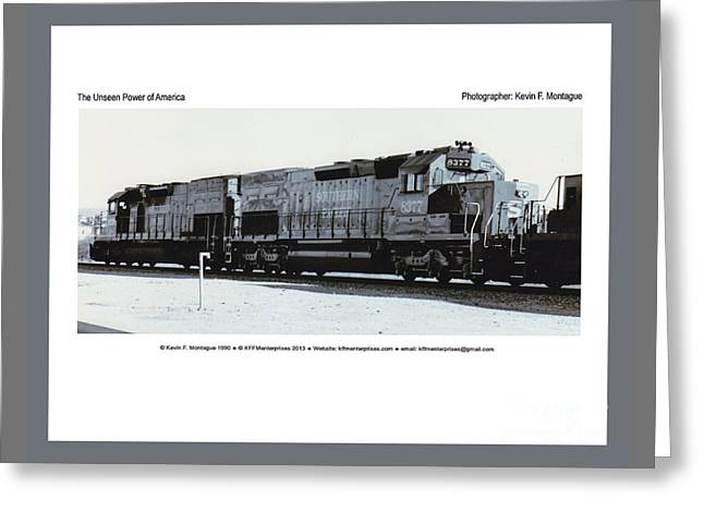 Incline Digital Greeting Cards - The Unseen Power of America Greeting Card by Kevin Montague