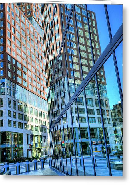 Boston Ma Greeting Cards - The Urban Maze Greeting Card by JC Findley