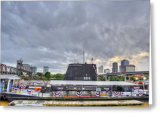 Little Rock Arkansas Greeting Cards - The USS Razorback Greeting Card by JC Findley