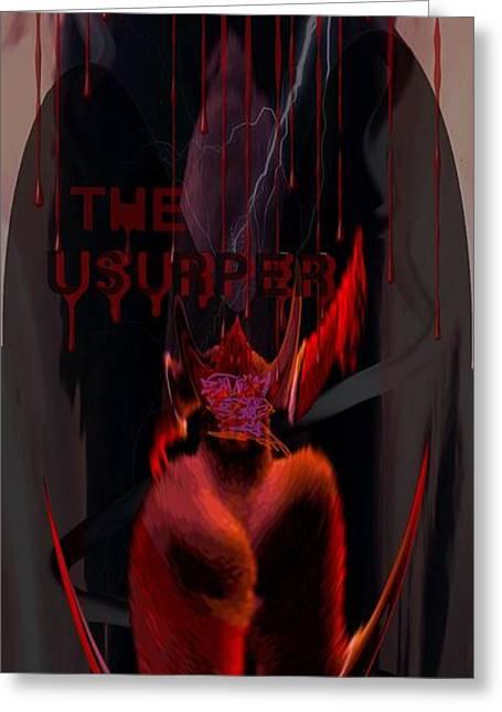 Gothic Mixed Media Greeting Cards - The Usurper Greeting Card by Mason BenYair