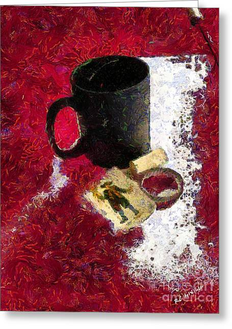 Cork Wall Paper Greeting Cards - The Vagaries of Fortune Greeting Card by RC deWinter