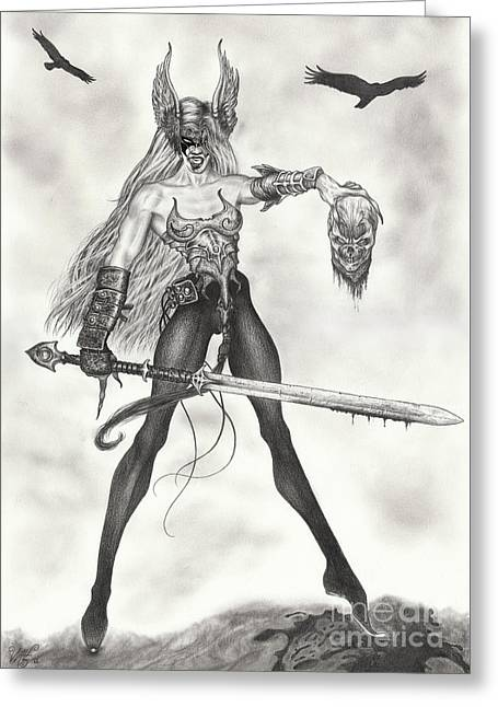 The Valkyrie Greeting Card by Wave Art