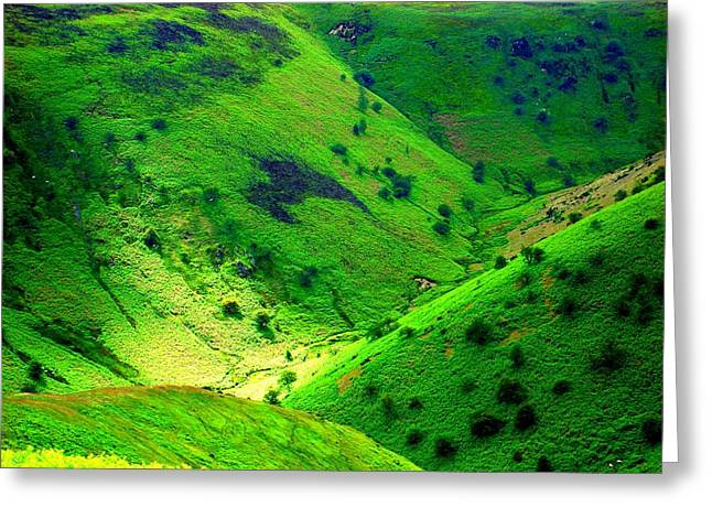 Roberto Alamino Greeting Cards - The Valley Below Greeting Card by Roberto Alamino