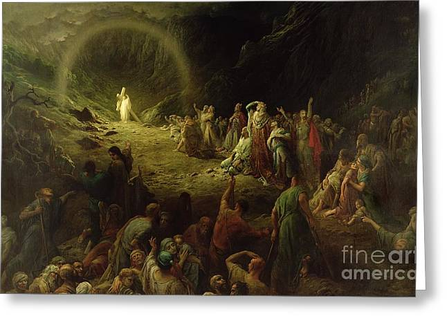 Religion Greeting Cards - The Valley of Tears Greeting Card by Gustave Dore