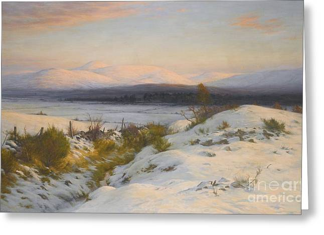 The Valley Of The Feugh Greeting Card by Joseph Farquharson