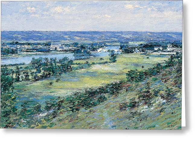 The Valley Of The Seine From The Hills Of Giverny Greeting Card by Theodore Robinson