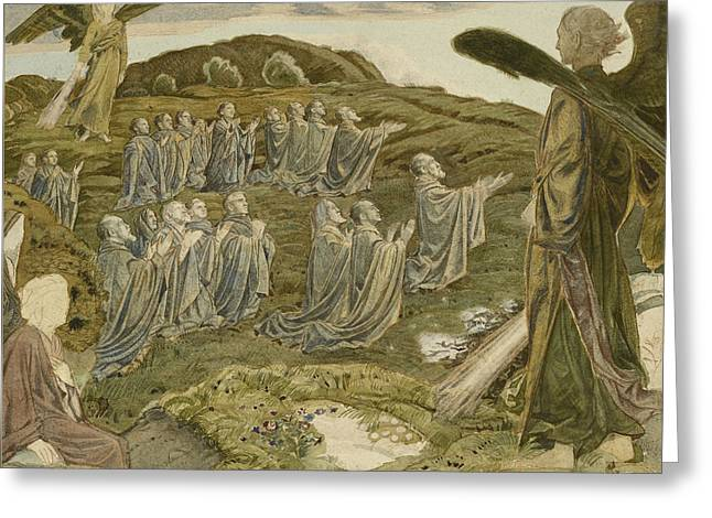 The Valley Of Vision Greeting Card by Henry A Payne