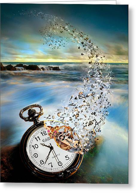 Vanishing Greeting Cards - The Vanishing Time Greeting Card by Sandy Wijaya