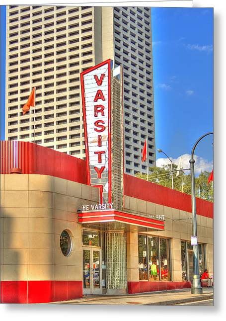 World Of Food Greeting Cards - The Varsity Historic Storefront Greeting Card by Reid Callaway