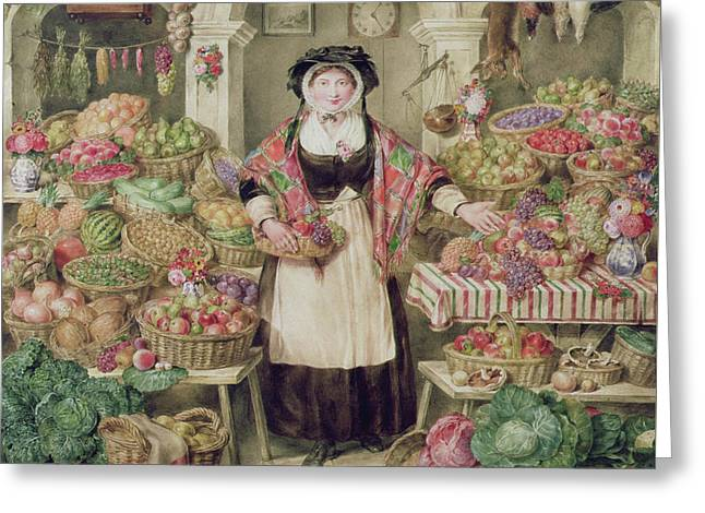 The Vegetable Stall  Greeting Card by Thomas Frank Heaphy